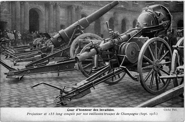 Cour des Invalides, Paris, 1916 (?)