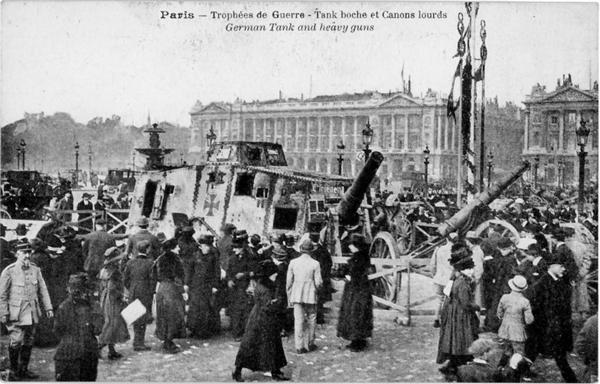Place de la Concorde, Paris, 1919