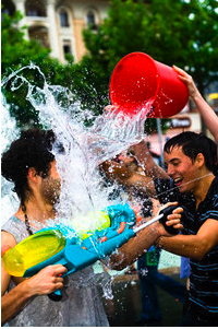 Water Fight à Belfort